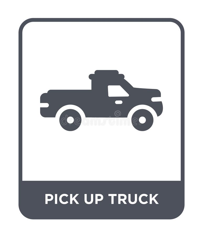 välj upp lastbilsymbolen i moderiktig designstil välj upp lastbilsymbolen som isoleras på vit bakgrund välj upp den enkla lastbil vektor illustrationer