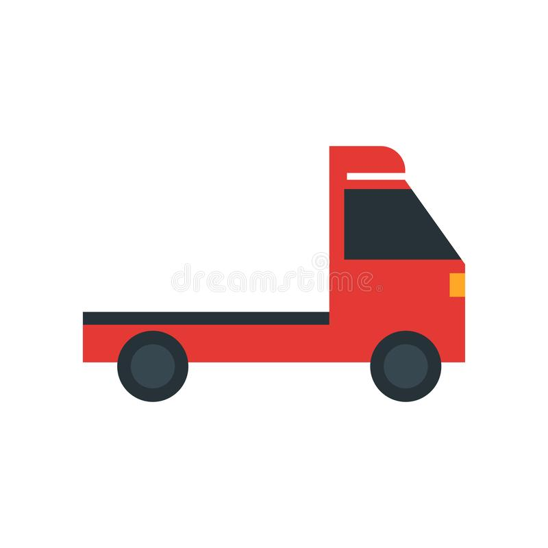 Välj upp tecknet för lastbilsymbolsvektorn, och symbolet som isoleras på vit bakgrund, väljer upp lastbillogobegrepp stock illustrationer