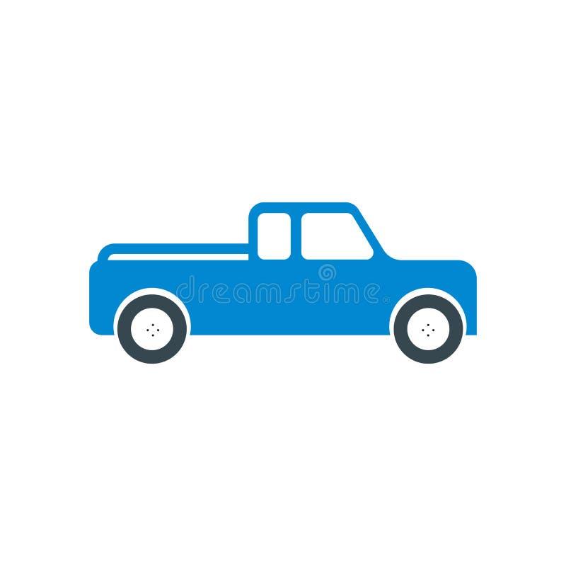 Välj upp tecknet för lastbilsymbolsvektorn, och symbolet som isoleras på vit bakgrund, väljer upp lastbillogobegrepp vektor illustrationer