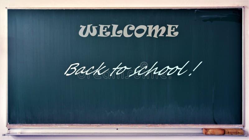 Välkommen tillbaka till skolan arkivfoto