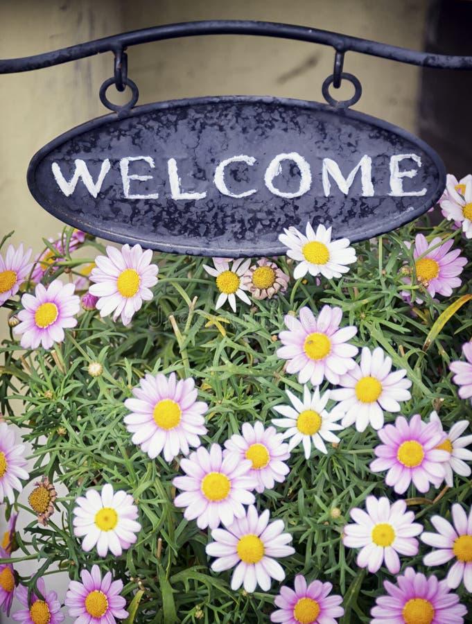 Välkommet tecken arkivbild