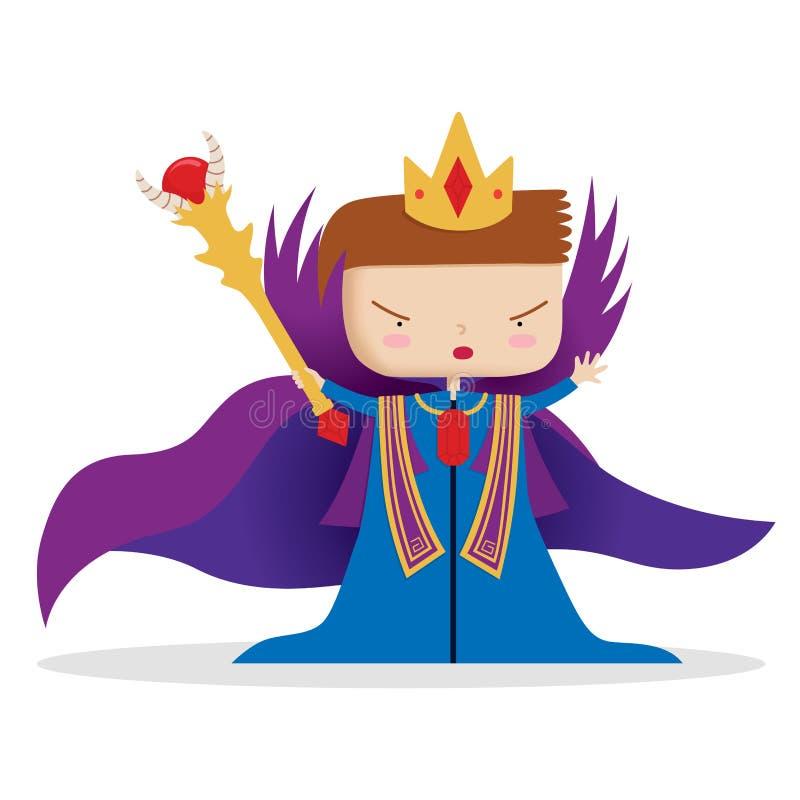 Välkomna den unga konungen stock illustrationer