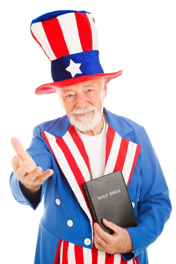 välkomna för bibelsam uncle royaltyfria bilder