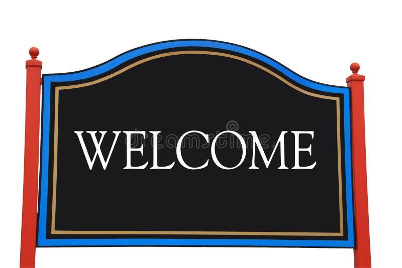 välkomnande för tecken för clippingbana royaltyfria foton