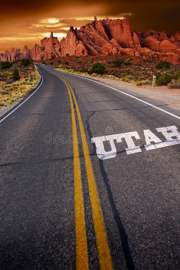 Välkomnande i Utah royaltyfri fotografi