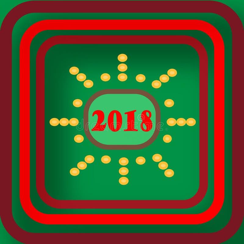 Välkomnande och lyckligt nytt år 2018 som firar fotografering för bildbyråer