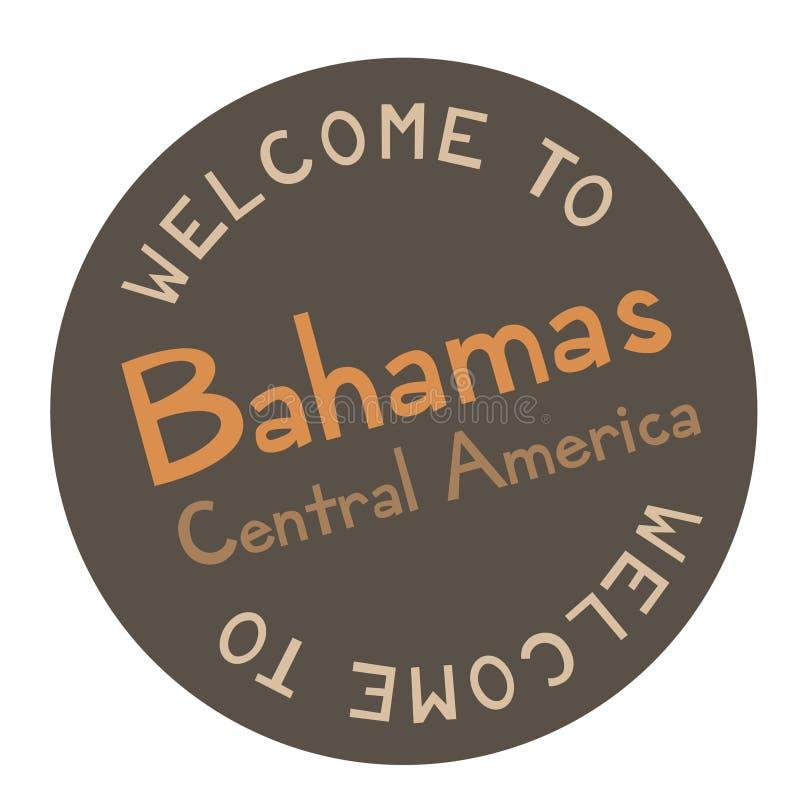 Välkomnande till Bahamas Central America vektor illustrationer