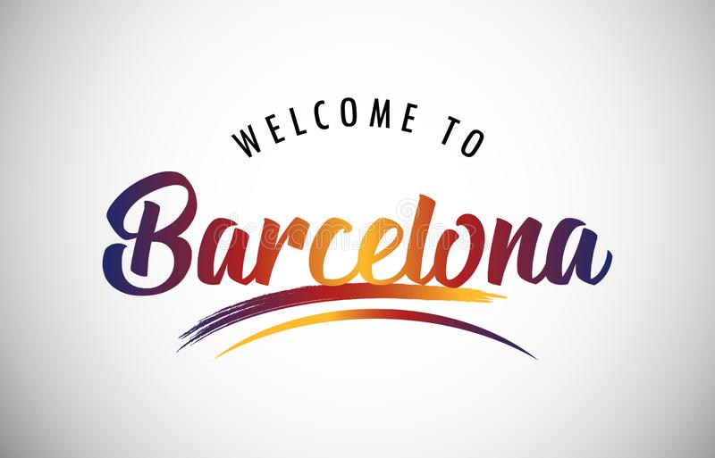 Välkomnande till Barcelona royaltyfri illustrationer
