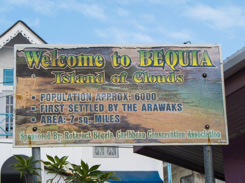 Välkomnande till Bequia royaltyfri bild