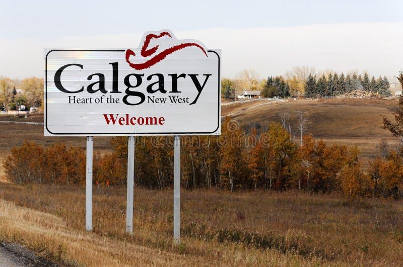 Välkomnande till Calgary royaltyfri bild