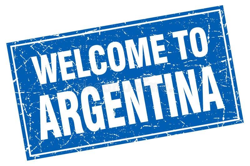 Välkomnande till den Argentina stämpeln vektor illustrationer