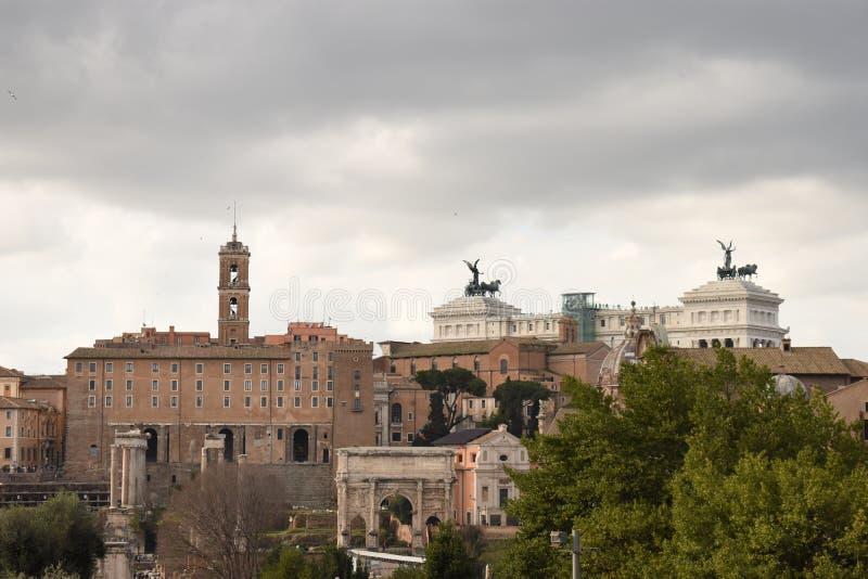 Välkomnande till den gamla Rome arkivbilder