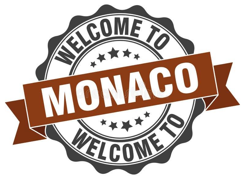 Välkomnande till den Monaco skyddsremsan royaltyfri illustrationer