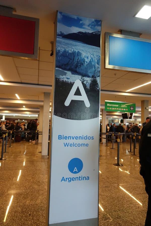 Välkomnande till det Buenos Aires tecknet fotografering för bildbyråer