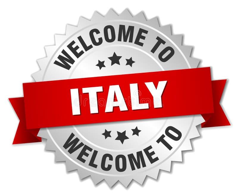 välkomnande till det Italien emblemet vektor illustrationer