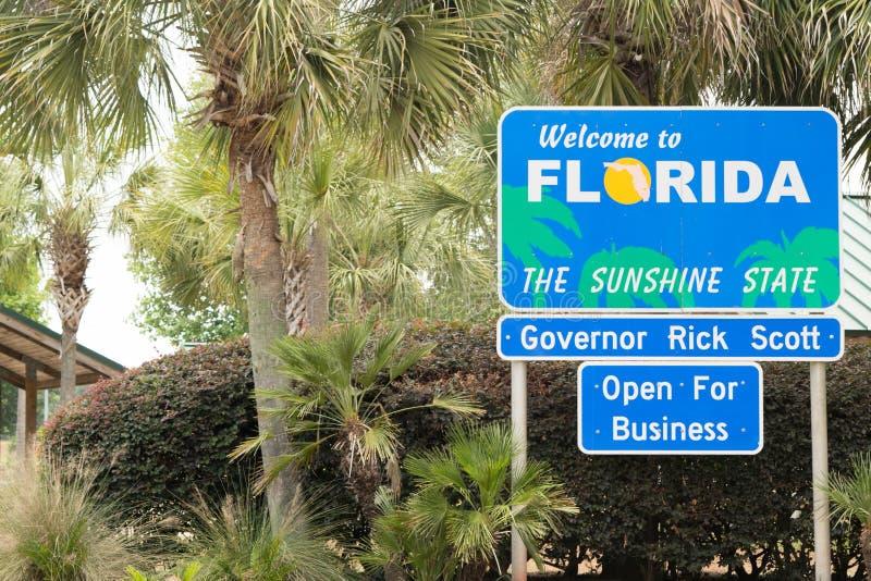 Välkomnande till Florida - Sunshine state royaltyfria foton