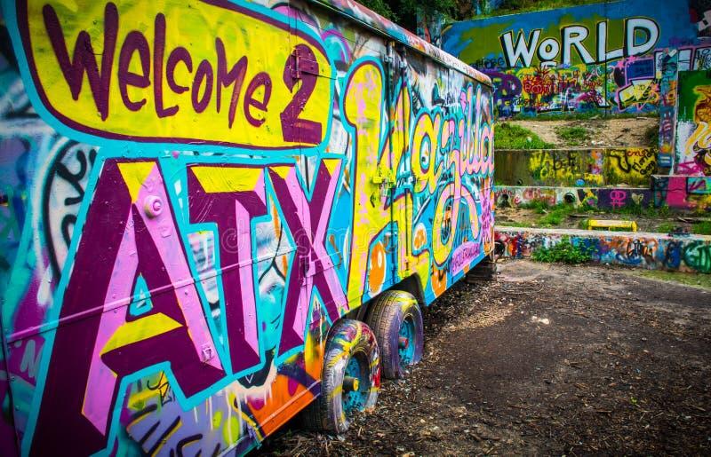 Välkomnande till huvudstad för Austin Texas USA världsmusik fotografering för bildbyråer
