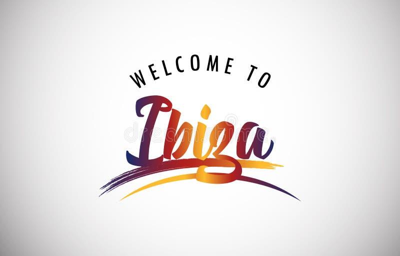 Välkomnande till Ibiza stock illustrationer
