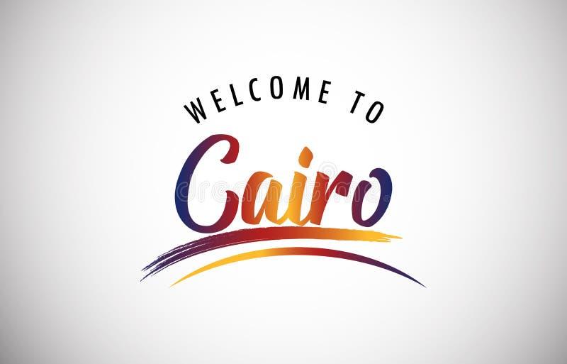 välkomnande till Kairo vektor illustrationer