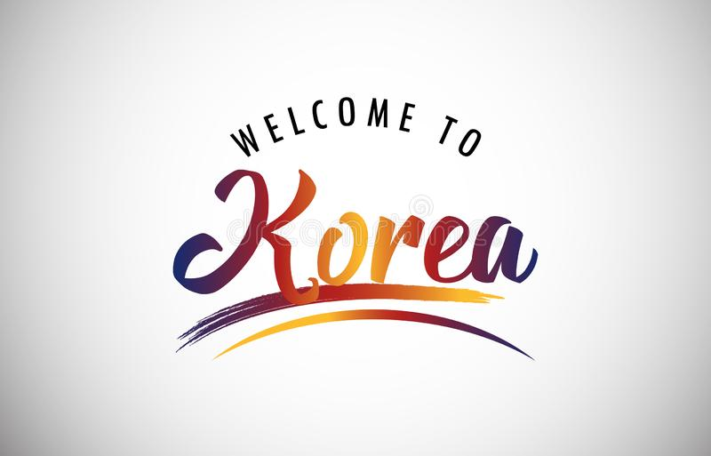 Välkomnande till Korea vektor illustrationer