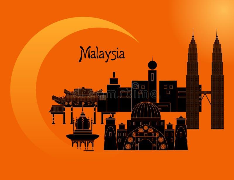 Välkomnande till Malaysia royaltyfri illustrationer