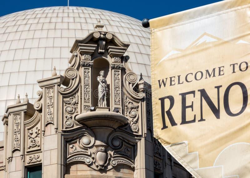 Välkomnande till Reno royaltyfria bilder