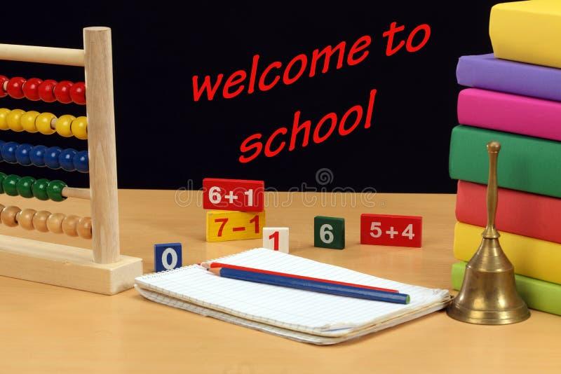 Välkomnande till skolan royaltyfria bilder