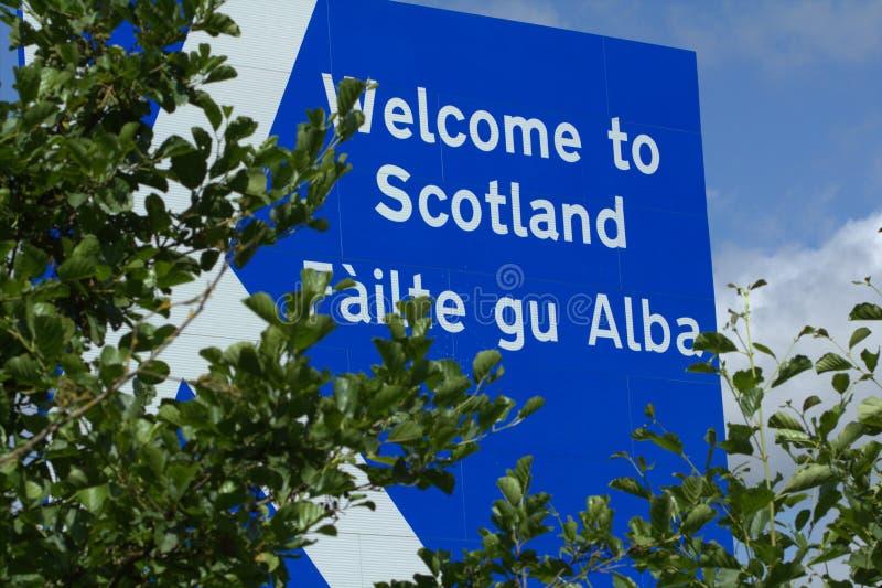 Välkomnande till Skottland royaltyfria bilder