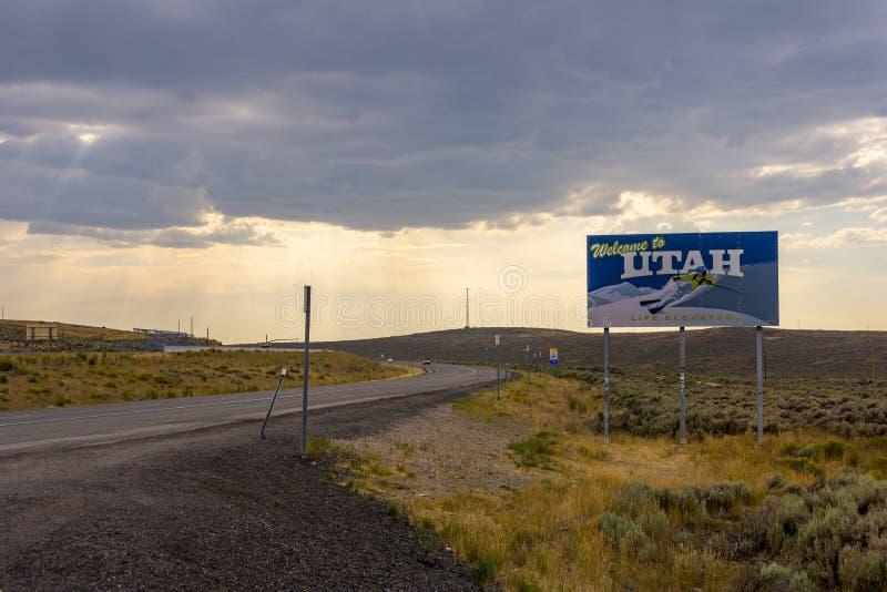Välkomnande till Utah royaltyfri fotografi