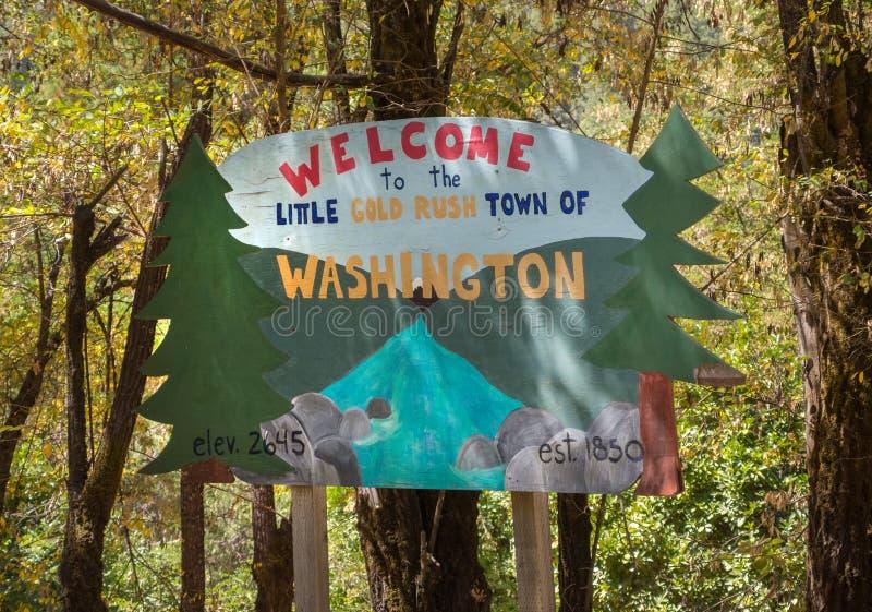 Välkomnande till Washington, Kalifornien arkivfoton