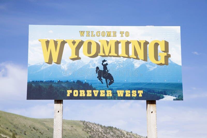 Välkomnande till Wyoming royaltyfri foto