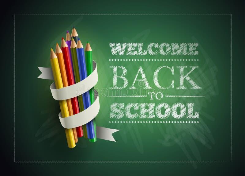 Välkomnande tillbaka till skolan royaltyfri illustrationer