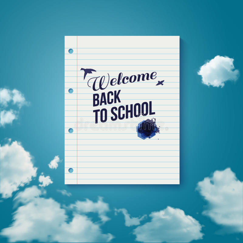 Välkomnande tillbaka till skolan. Motivera affischen. stock illustrationer