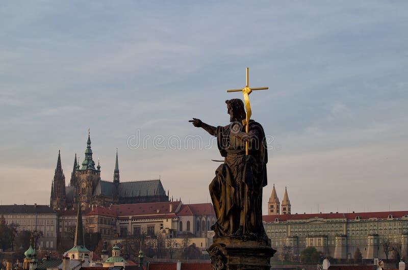 Välsigna dig Prague arkivbild