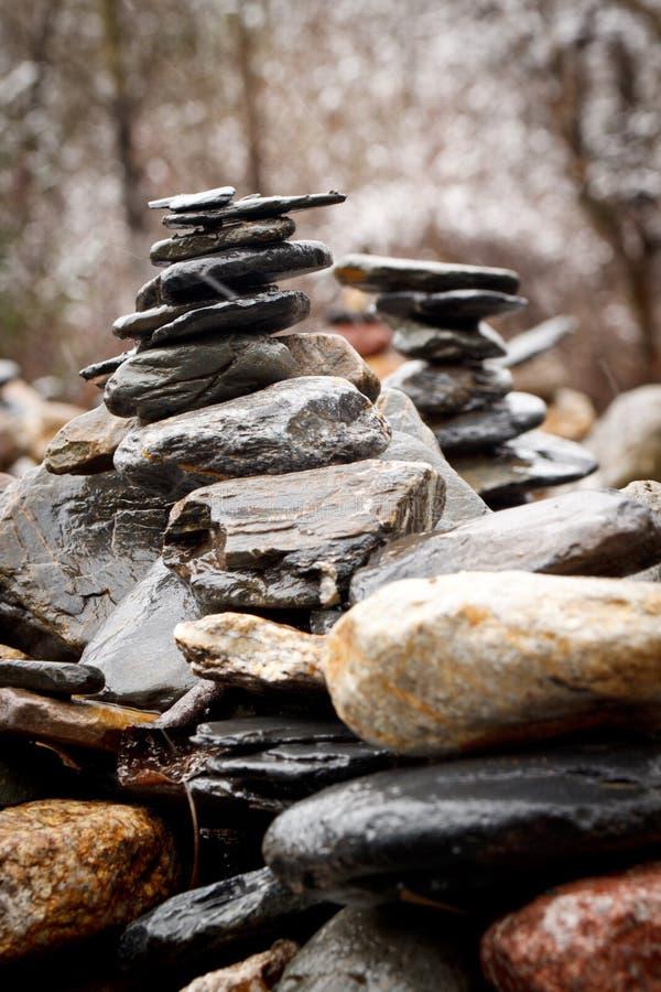 välsignelsen stenar det tibetana tornet royaltyfri fotografi