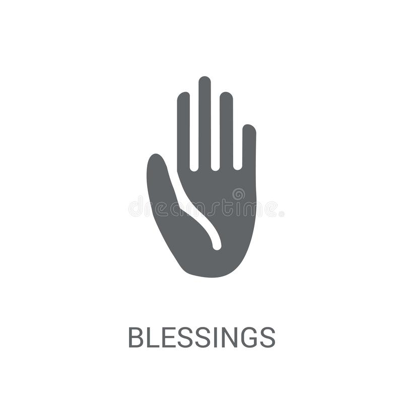 välsignelsesymbol  royaltyfri illustrationer