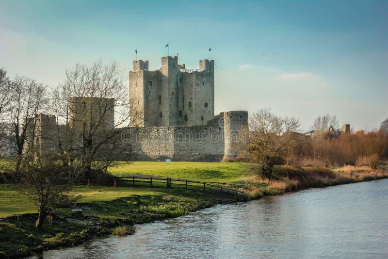 Välskött slott ståndsmässiga Meath ireland arkivbilder