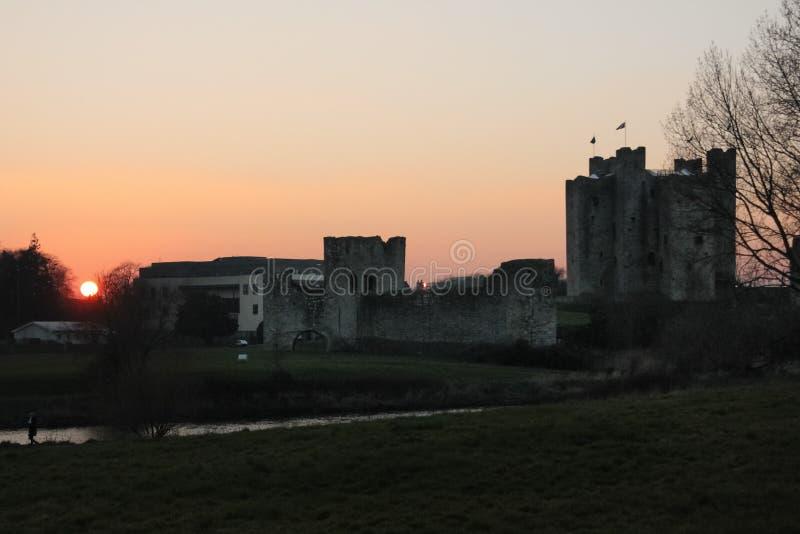 Välskött slott ståndsmässiga Meath ireland arkivfoto