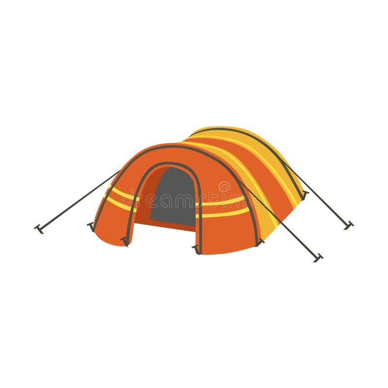 Välvt orange ljust färgpresenningtält stock illustrationer