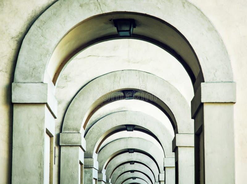 Välvt stentak i Florence, Tuscany, Italien arkivbilder