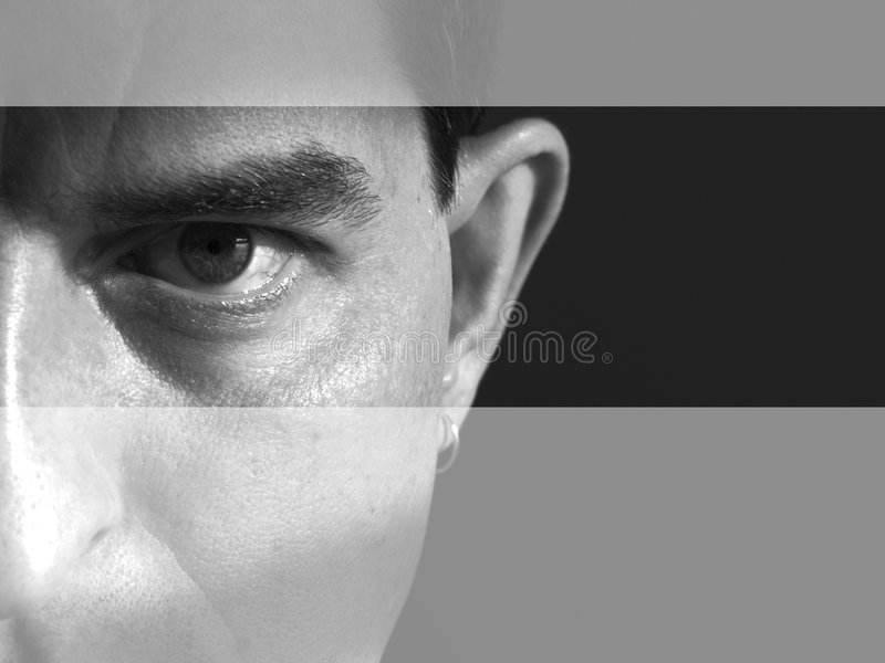Download Vänd band mot arkivfoto. Bild av öga, skugga, ögon, öron - 519732