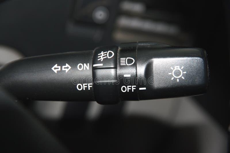 vänd för ljus strömbrytare fotografering för bildbyråer