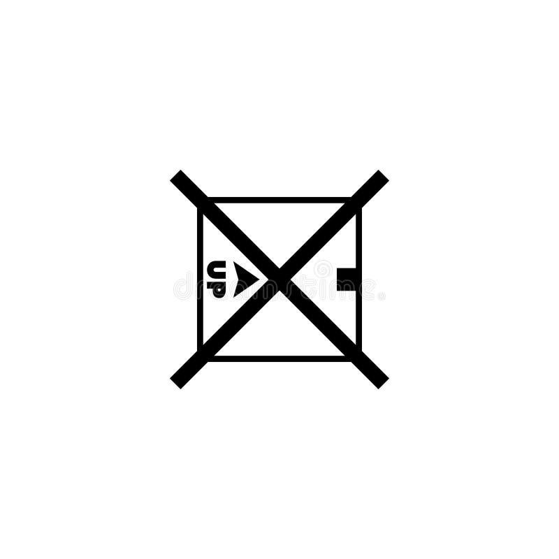 Vänd inte över symbolen för vektorn för lägenheten för emballageasken royaltyfri illustrationer