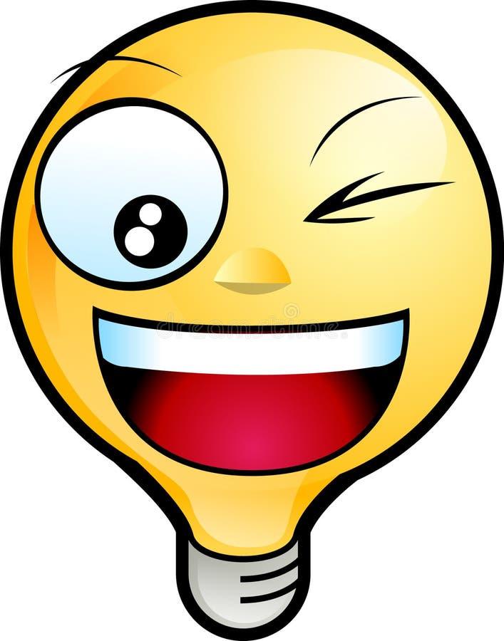 vänd smileyen mot stock illustrationer