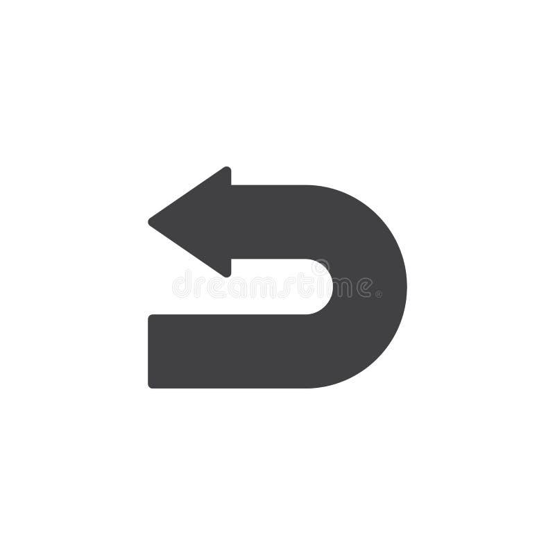 Vänd tillbaka pilvektorsymbolen royaltyfri illustrationer