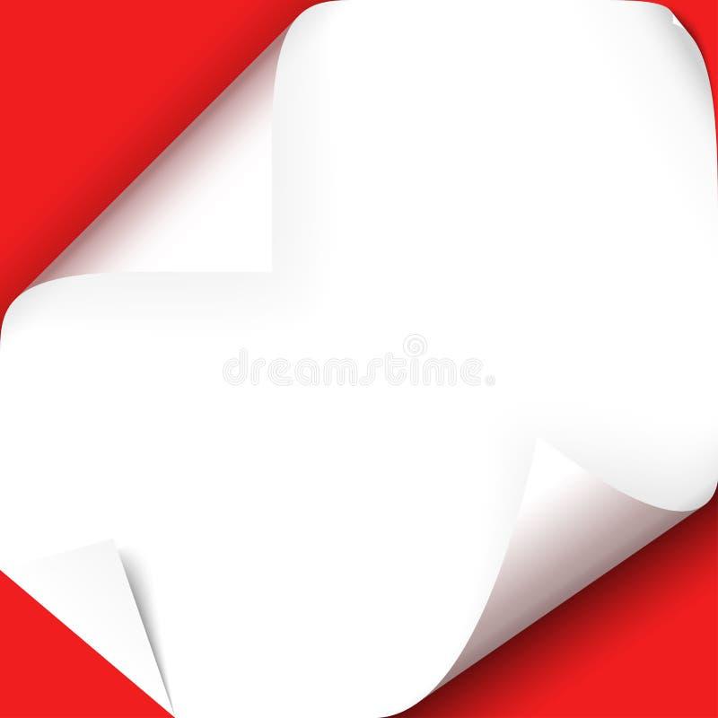 vända över pappershörn vektor illustrationer