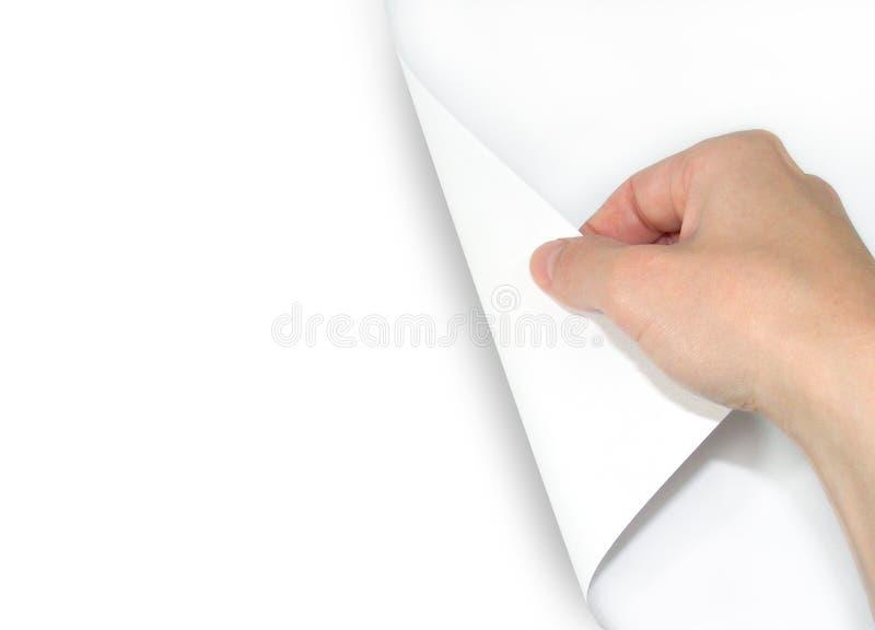 vända för blank sida royaltyfria foton