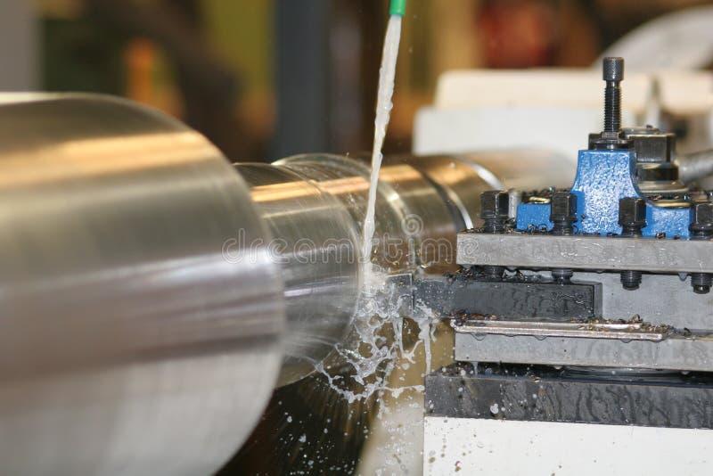 vända för drejbänkrostfritt stål arkivfoton