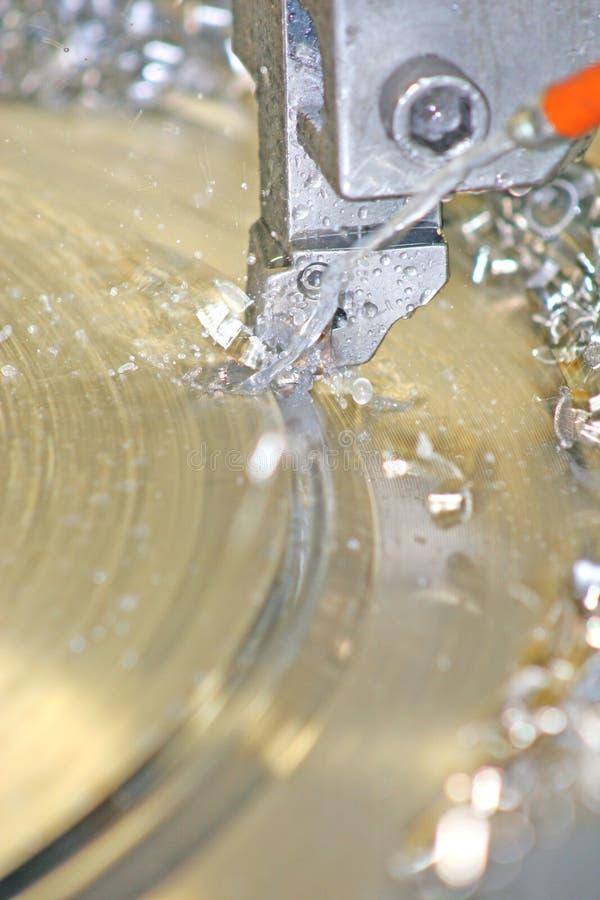 vända för drejbänkrostfritt stål arkivbilder