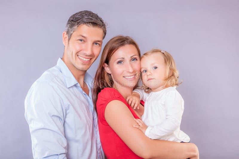 Vänlig familj arkivfoto